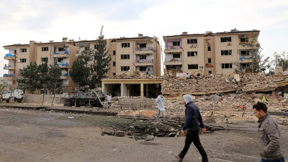 Turecké město Nusaybin v jihovýchodní provincii Mardin.