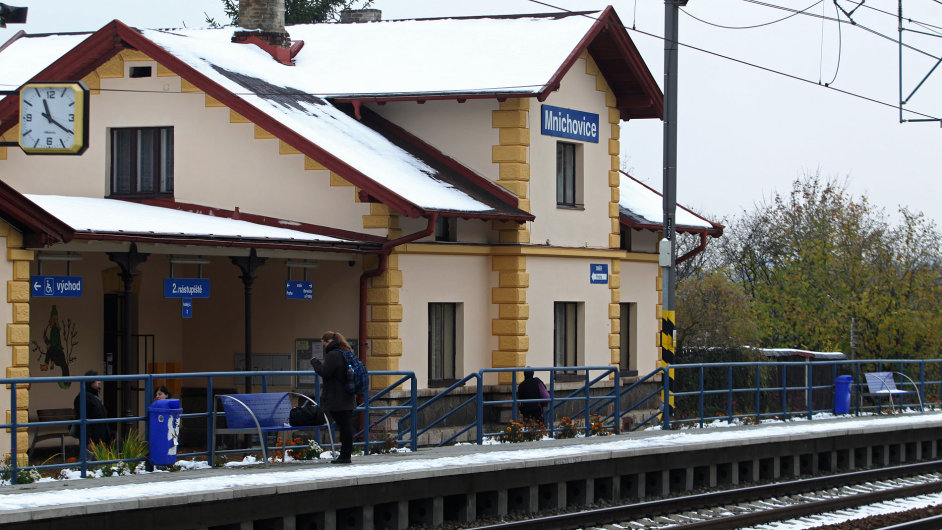 Nádraží v Mnichovicích na Praze-východ