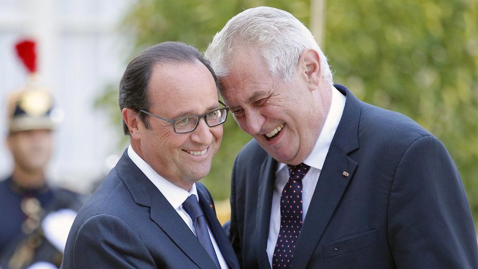 François Hollande a Miloš Zeman