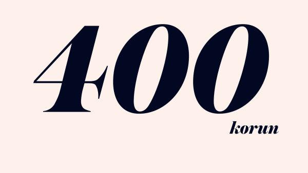 400 korun