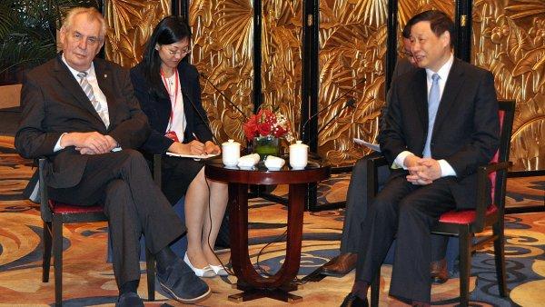 Prezident Miloš Zeman na návštěvě v Číně.