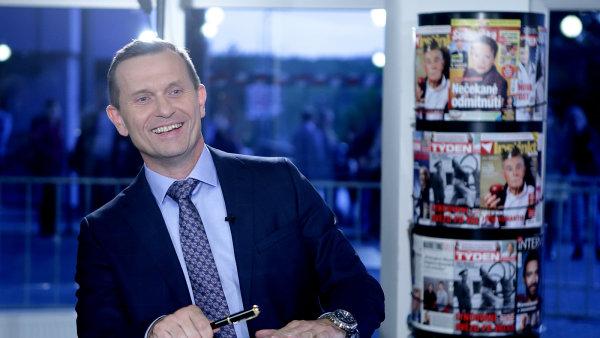 Jaromír Soukup, majitel TV Barrandov a agentury Médea, ve svém pořadu Duel