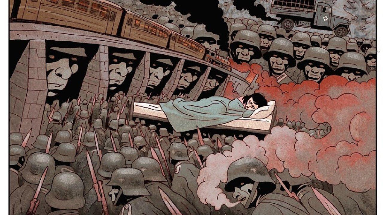 Z komiksu Deník Anny Frankové.