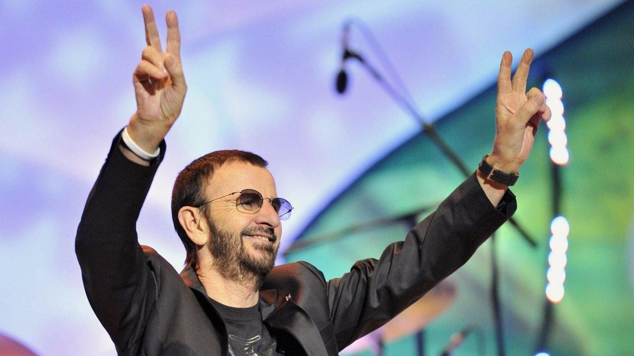 Ringo Starr při pražském koncertu