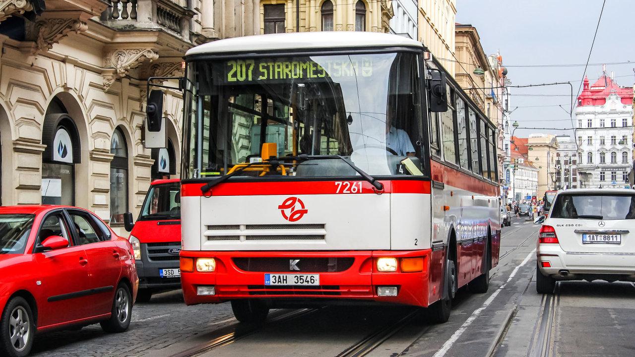 Autobus MHD Praha