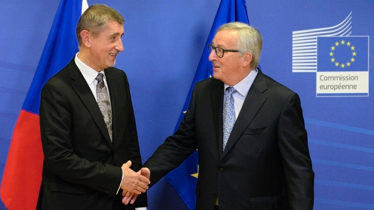 Babiš na setkání s předsedou Evropské komise Junckerem