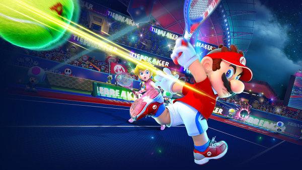 Mario Tennis Aces je zábavná hra inspirovaná bílým sportem.