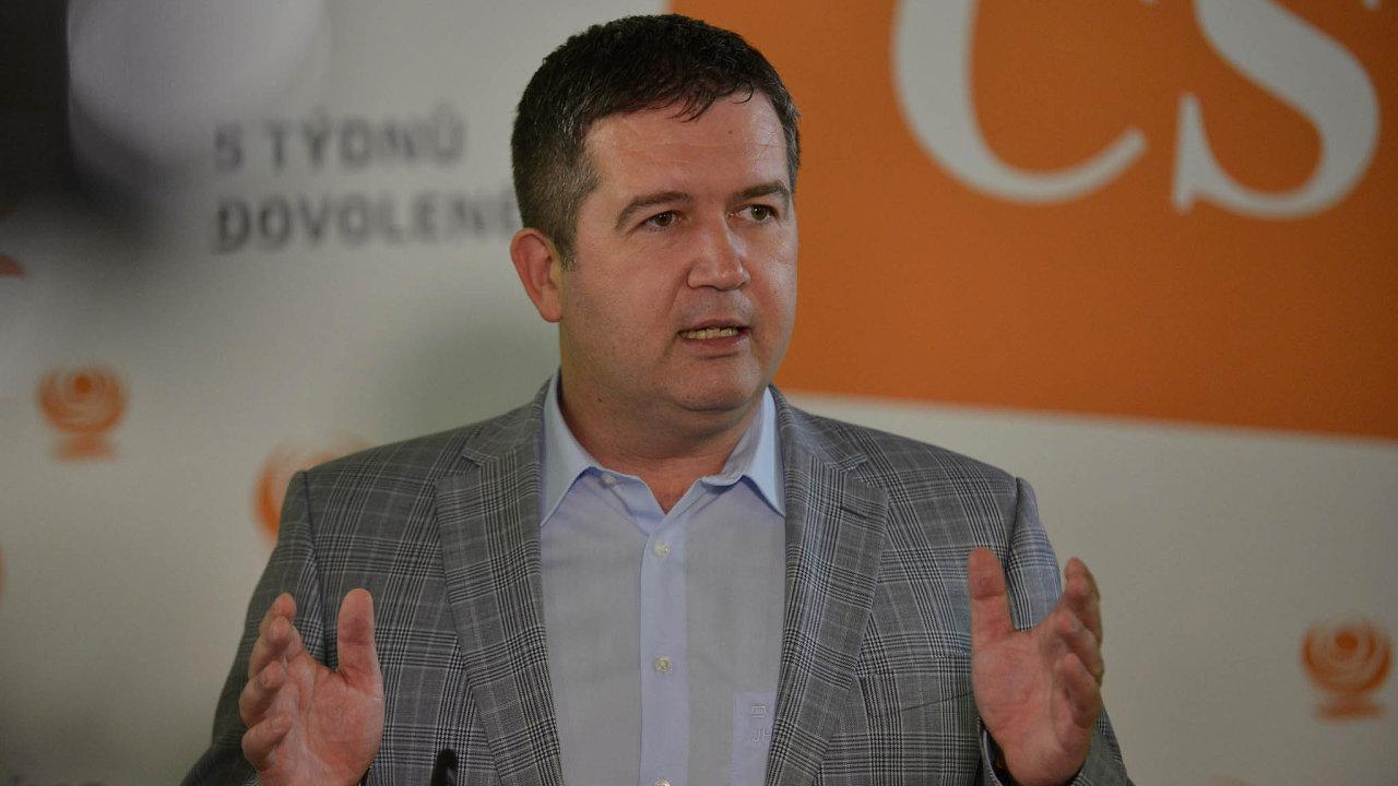 Předseda ČSSD a místopředseda vlády Jan Hamáček by teď pro opoziční návrh na vyslovení nedůvěry vládě nehlasoval.