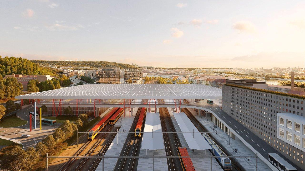 V Praze na Smíchovském nádraží vznikne nový dopravní terminál.