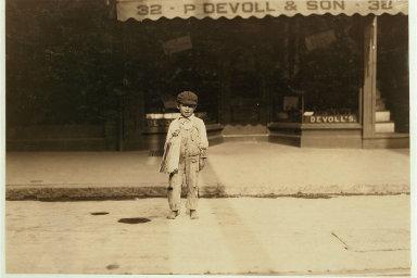 Fernance Silvia, sedmiletý prodavač novin z New Bedfordu, Massachusetts. Srpen 1911.