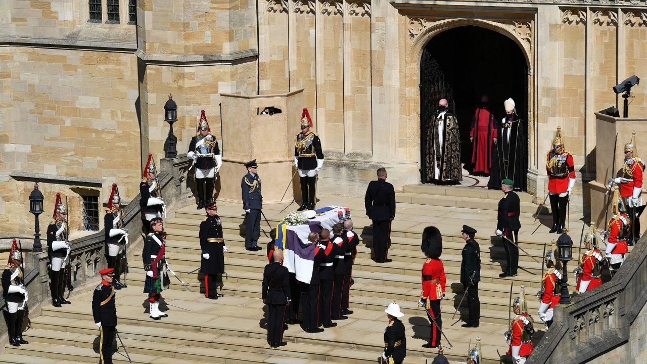 Pohřeb prince Philipa.