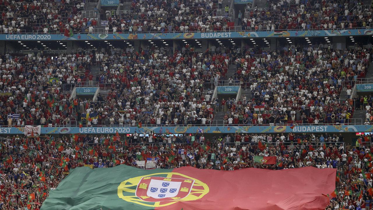 Euro 2020 Stadion Budapešť fanoušci