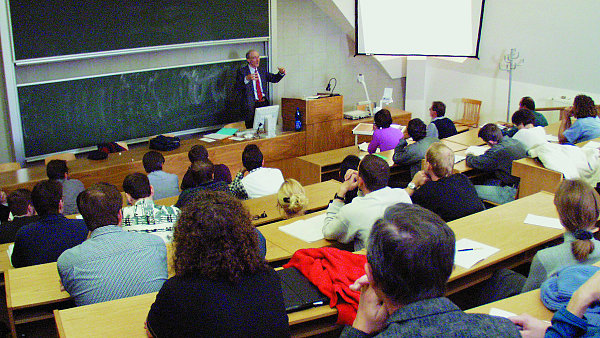 Učebna vysoké školy, ilustrační foto