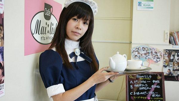 Číšnice v tzv. maid café