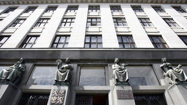 Budova ministerstva zem�d�lstv� v Praze.