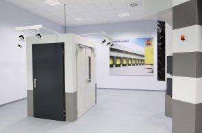 Protipožární dveře v nové vzorkovně společnosti Hörmann