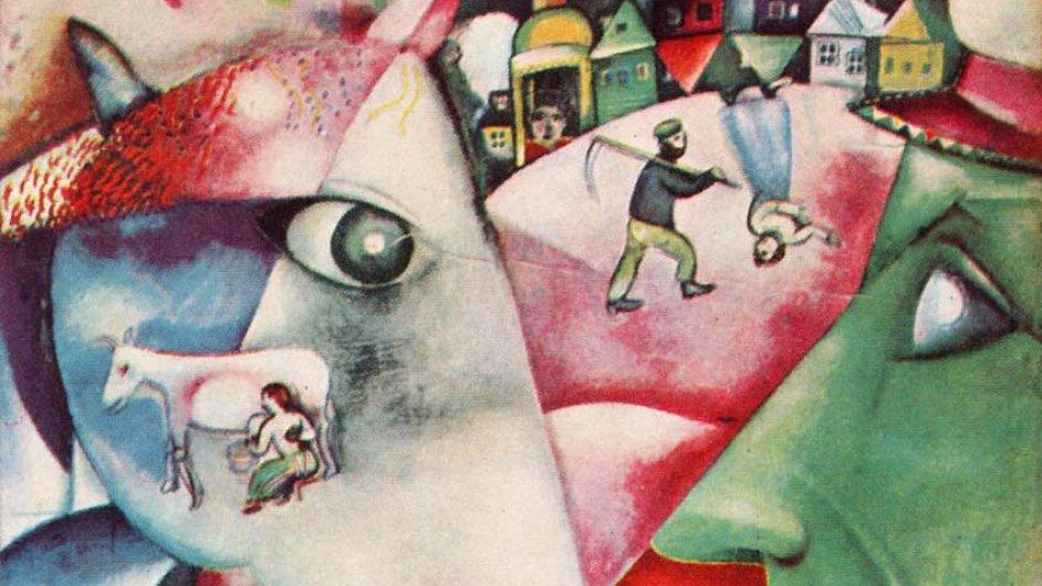 Já a vesnice. Marc Chagall nezapomínal na domov ani v avantgardní Paříži