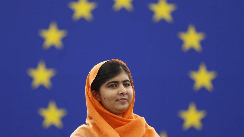 Malalaj Júsufzaiová převzala Sacharovovu cenu.