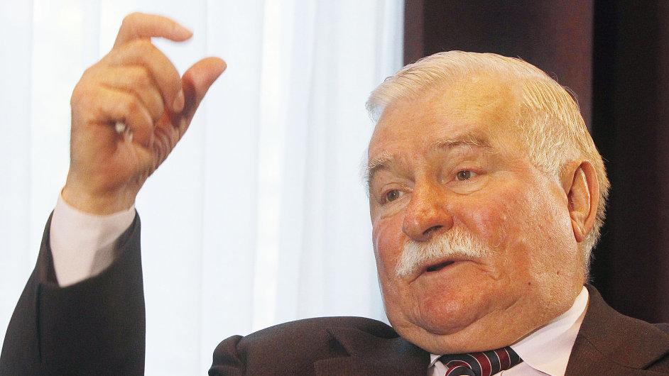 Lech Walesa, bývalý polský prezident a symbol boje proti komunismu.