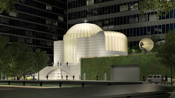 Nový Kostel sv. Mikuláše v New Yorku navrhl Santiago Calatrava