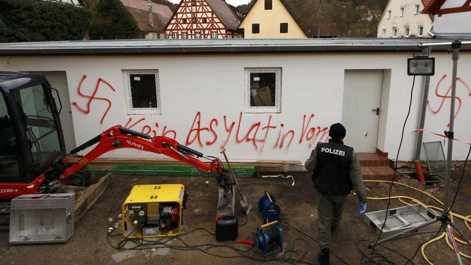 V Německu hořely ubytovny pro uprchlíky.