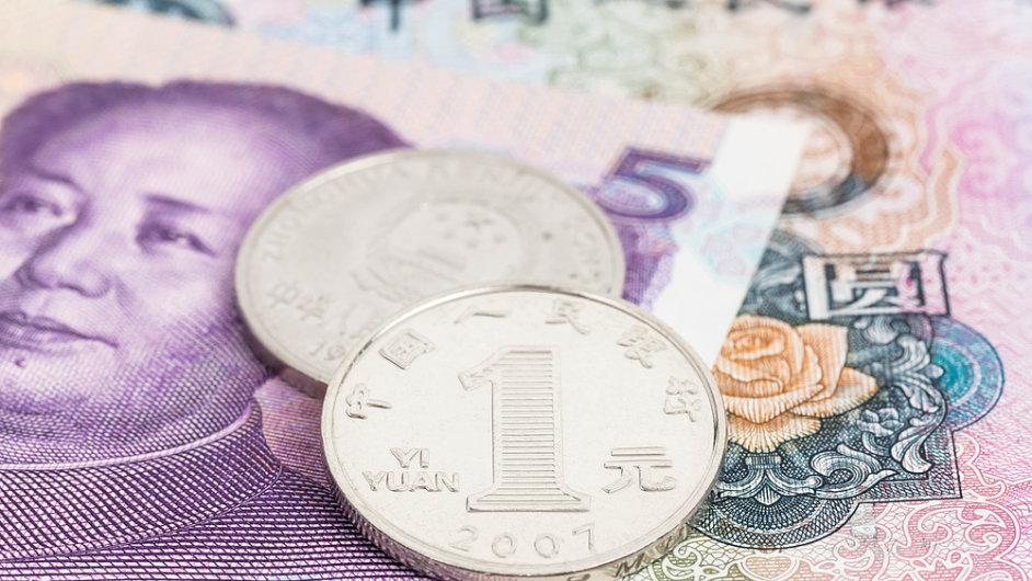 Čínský jüan (ilustrační foto)