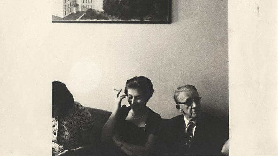 Ferdinand Peroutka s Kovtunovou tchyní Marií Klausovou v 70. letech v New Yorku.