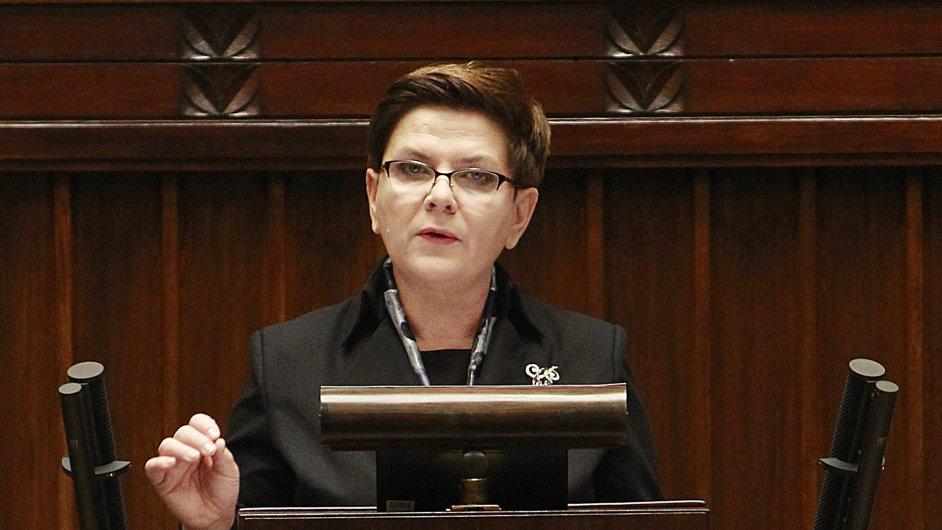 Polská premiérka Beata Szydlová.