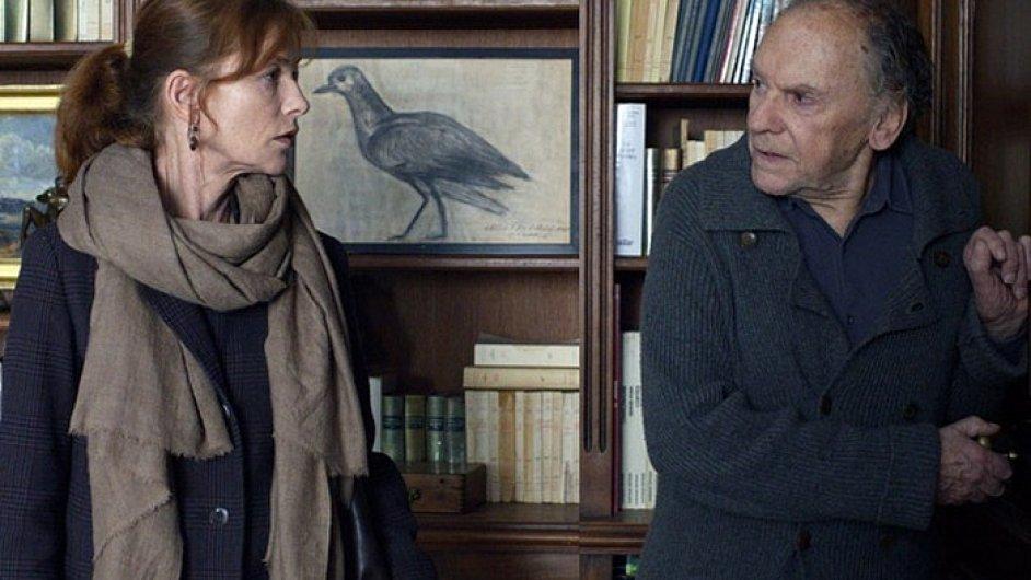 Isabelle Huppertová a Jean-Louis Trintignant na snímku z Hanekeho filmu Láska.
