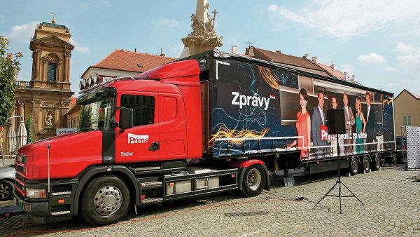 Zpravodajský kamion televize Prima