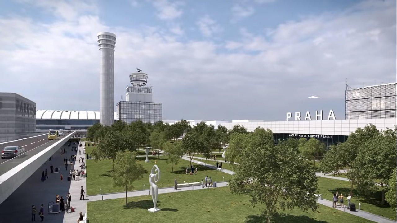 Nová řídící věž na Ruzyni nabírá zpoždění, dispečeři ji zatím nepotřebují.
