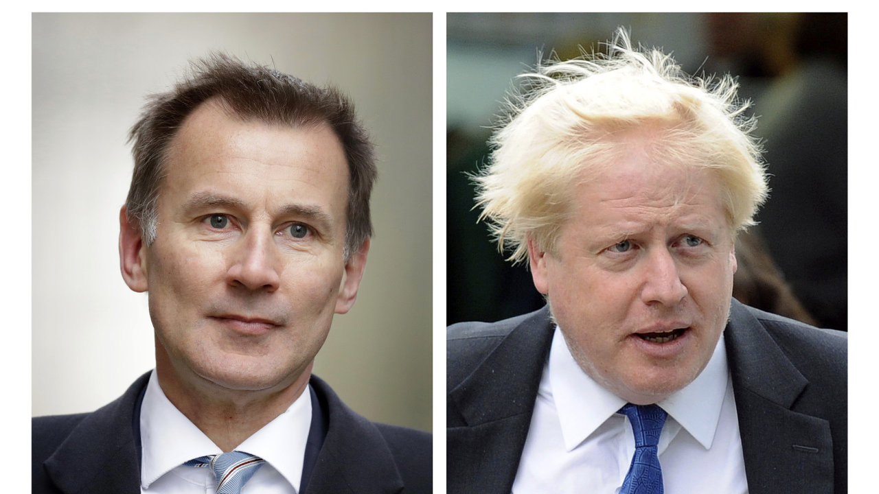 Jeremy Hunt a Boris Johnson.