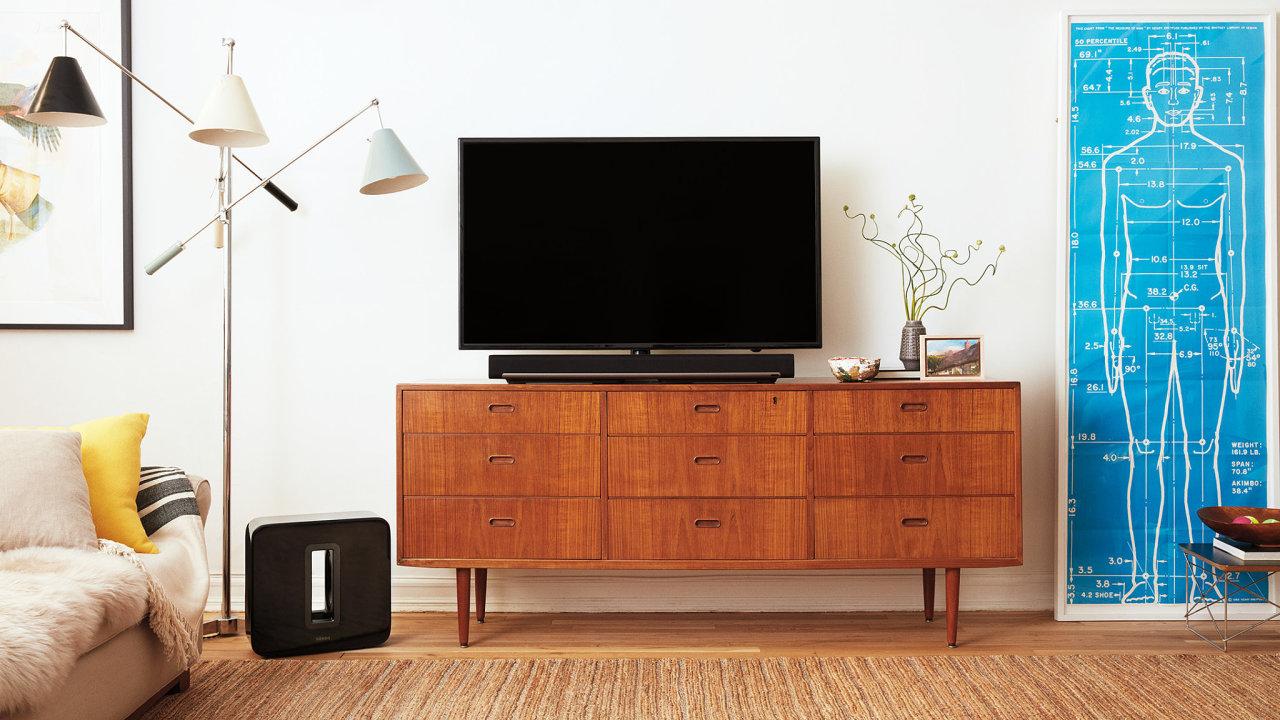 Sonos Beam, Sub a One spolu tvoří domácí kino bez drátů a stresu.