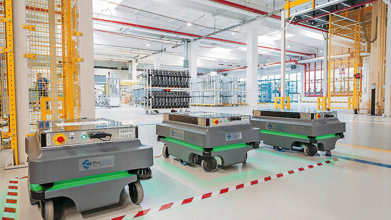 Roboti zlepšují logistiku ve firmě Whirlpool