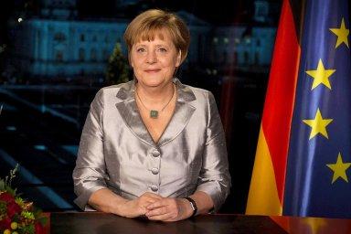 Při svátečním projevu se německá kancléřka blýskne nejen obsahem.