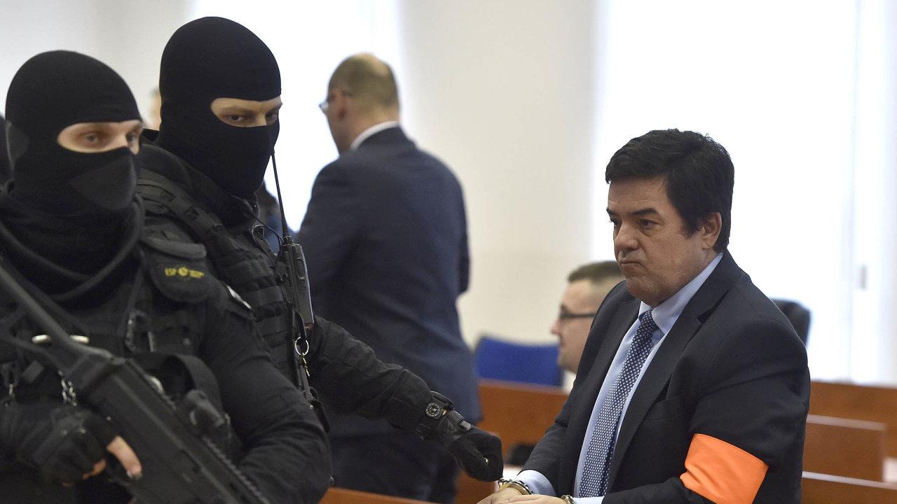Marian Kočner u soudu v Pezinku. Za zorganizování vraždy novináře Jána Kuciaka a jeho přítelky ně mu hrozí doživotí.