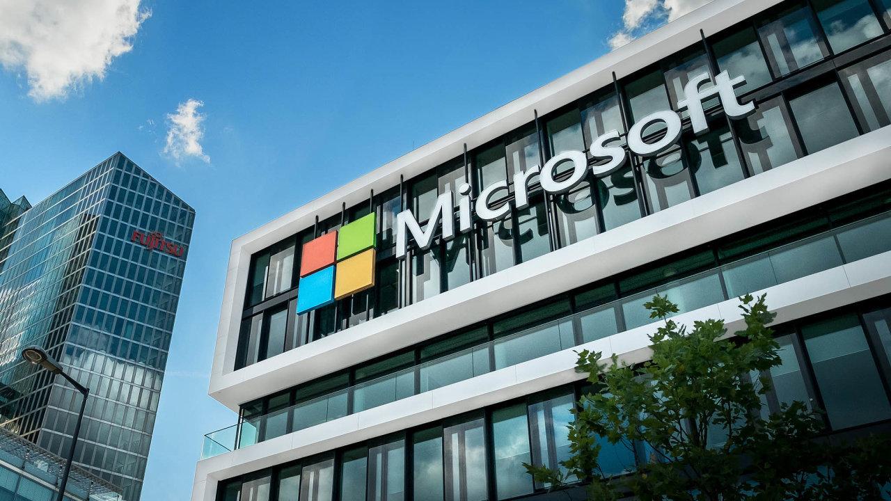 Celková hodnota největších evropských firem, sjejichž akciemi se obchoduje na burze, stále více bledne vporovnání samerickými protějšky, například firmou Microsoft.