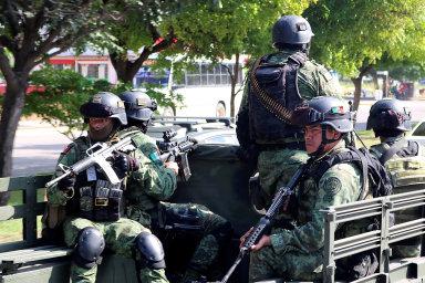 Boj s drogovými kartely v Mexiku.