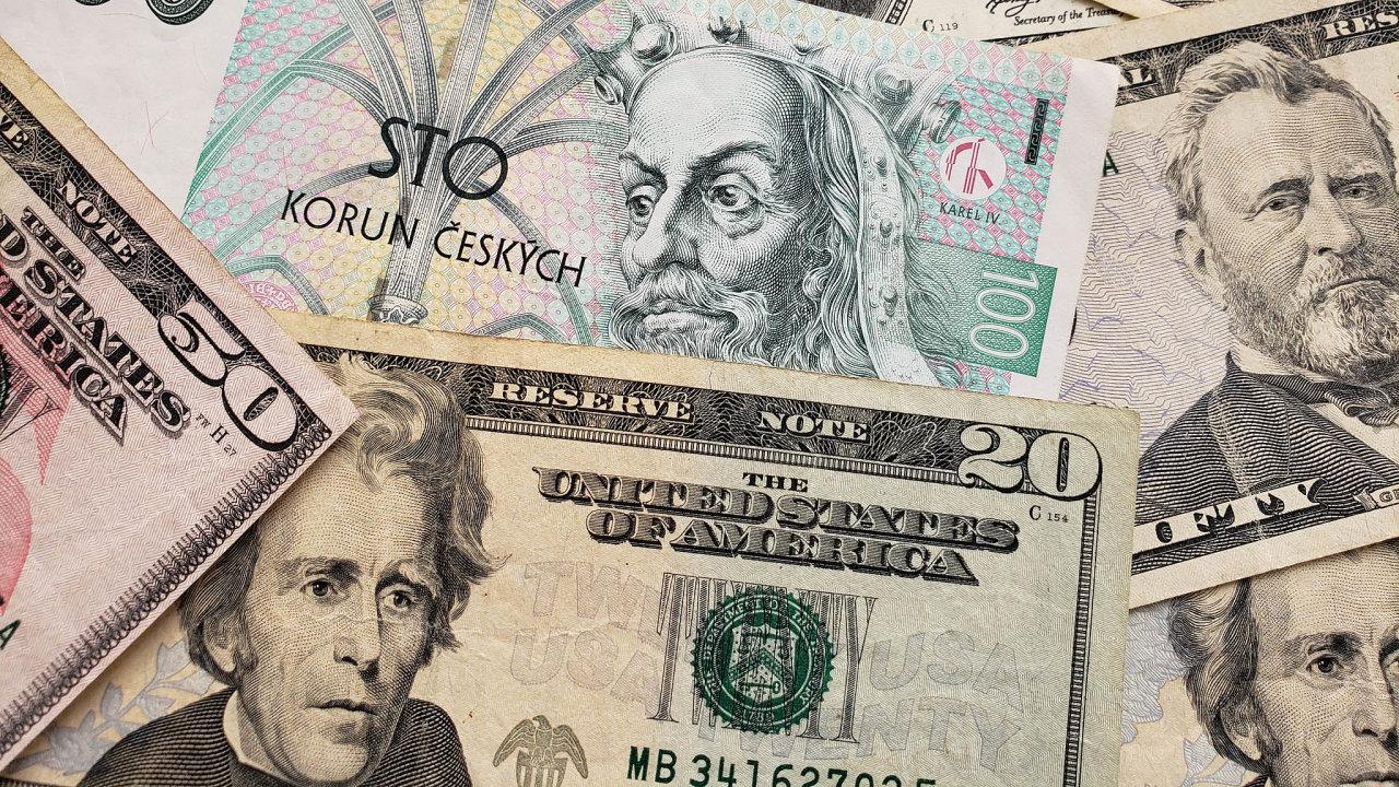Česká koruna je měnou, která nejrychleji posiluje k americkému dolaru.