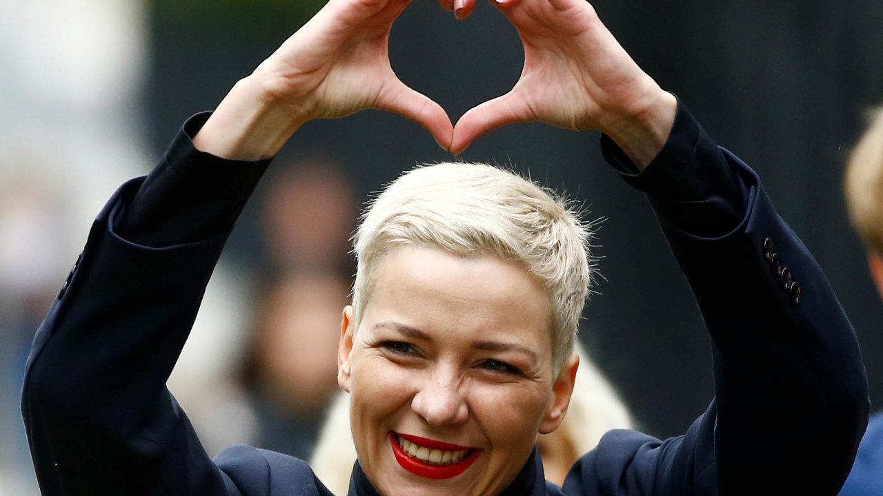 Věřím vbudoucnost. Symbolem Maryje Kalesnikavové vboji zalepší budoucnost Běloruska je srdce.