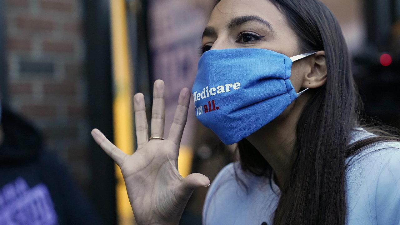Kupředu levá.Alexandria Ocasio-Cortezová je jednou zhlavních tváří levicového proudu vDemokratické straně.