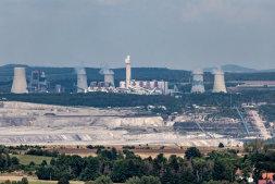 Polský hnědouhelný důl Turow na hranicích s Ceskou republikou