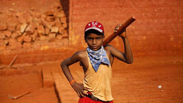 Ilustra�n� foto - d�tsk� pr�ce v Indii