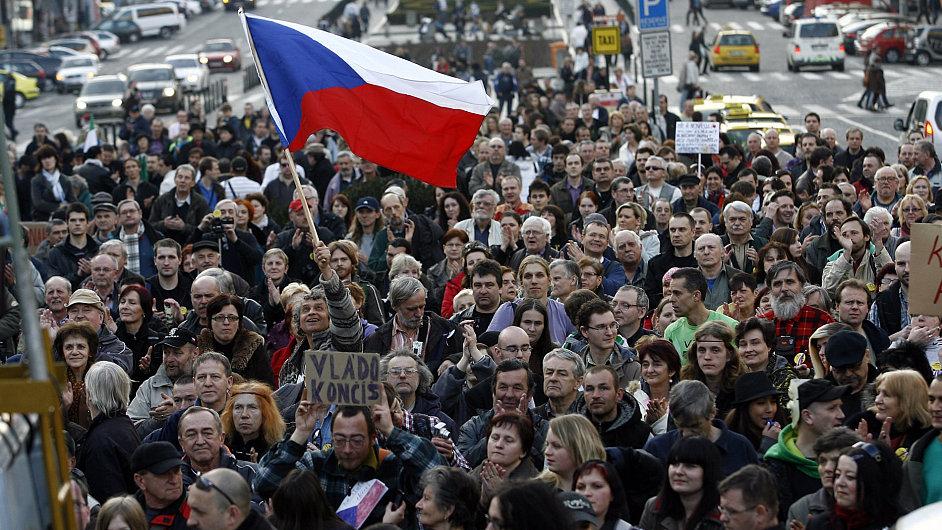 Demonstrace na Václavském náměstí, březen 2012