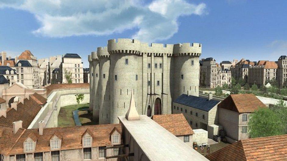 Model historické Bastily v programu Paris 3D.