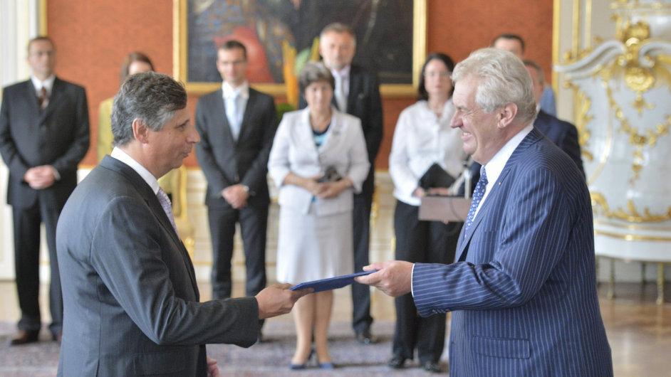 Jan Fischer při svém jmenování ministrem financí