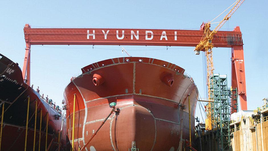 Loděnice Hyundai v Ulsanu