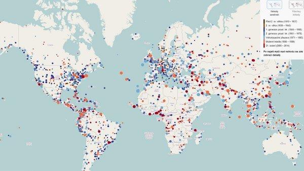Mapa leteckých nehod