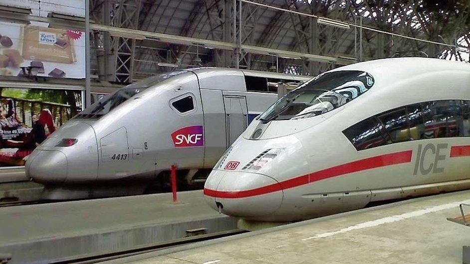 Francouzské státní dráhy SNCF provozuje i rychlovlaky TGV