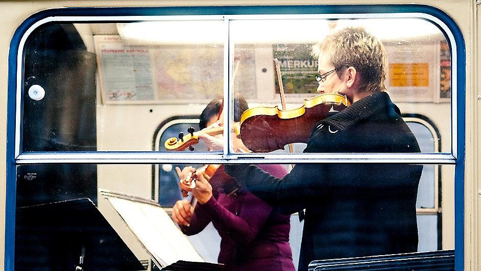 Filharmonie Brno hrála v šalině.